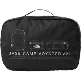 The North Face Base Camp Voyager Duffel 32l, TNF black/TNF white